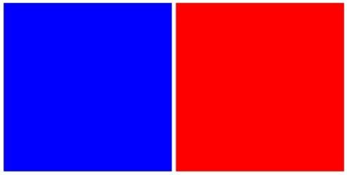 Rouge/bleu