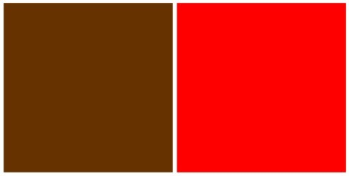 Rouge/brun